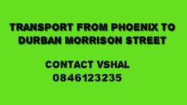 Transport from Phoenix to durban