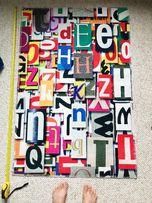 Dywanik Beliani literki 3D nowy 120 x 80