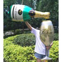 Balony sylwester sylwestrowe szampan kieliszek DUŻE!!!