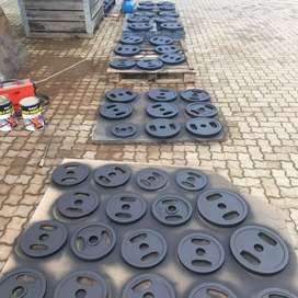Weights and dumbbells. R70 per kg. Place your order today.
