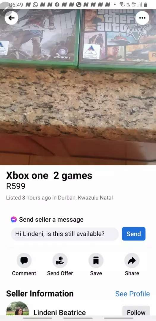 Xbox one  for 2 games