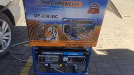 2800DC,2.2kw Omega generator for only R3500 new with a Warranty