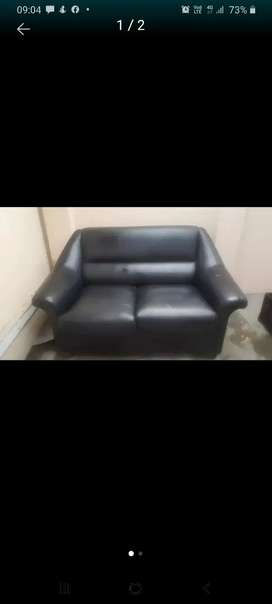 black leather couch .2 x2 seater and 1 seater leather couch