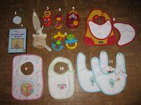 Слюнявчики, погремушки, игрушки для малышей, дешево