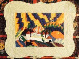 Пэчворк одеяло, панно