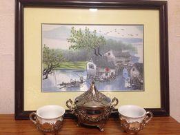 Китайский кофейный набор, 6 персон, новый