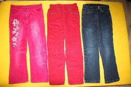 Штаны вельвет брюки джинсы 116-126см суперские