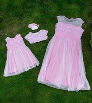 Очень нежные красивые платья для мамы и доченьки Family Look