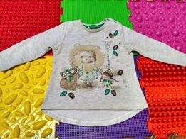 Классный реглан кофта свитер для девочки до 1-1,5