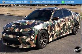 CAMO VIHICLE WRAP/ AFFORDABLE / CHANGE COLOUR OF YOUR CAR NOW