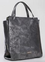 MONNARI nowa torebka torba wężowa skóra A4