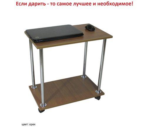 Журнальный столик на колесах с полкой. Подставка для ноутбука Доставка Киев - изображение 4