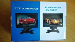 Monitor samochodowy LCD TFT 7 cali + pilot - odbiornik kamery cofania