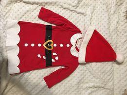 Новогодний наряд ,платье Джордж 6-9 месяцев