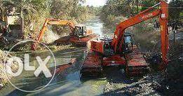 выкопать пруд экскаватором, драглайном, земснарядом