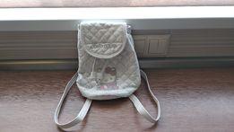 Маленький белый рюкзак Hello Kitty для девочки