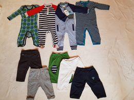 Śpiochy i spodnie r.74