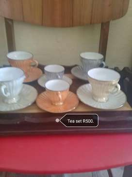 Antique cutlery and tea sets