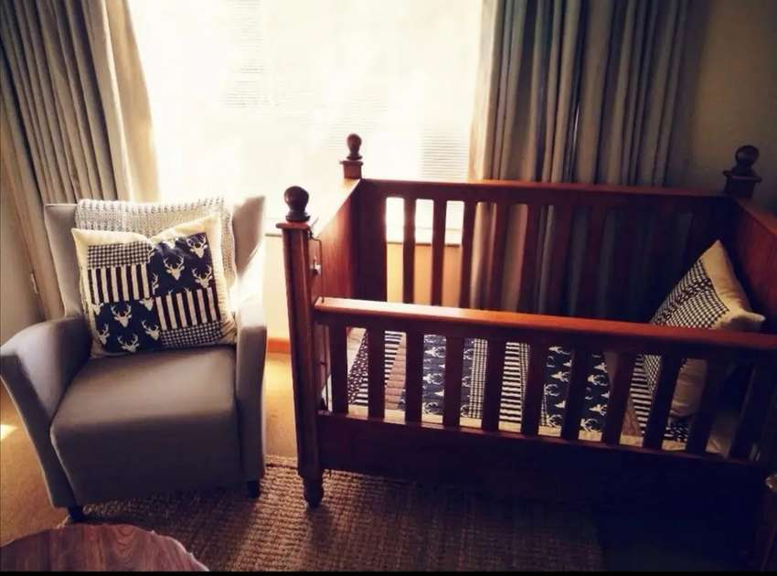 Wooden large cot Negotiable