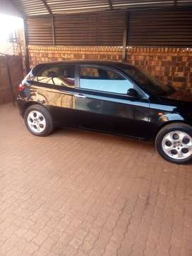 Black Alfa Romeo 147, still in good condition going for 45k