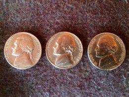Продам монеты перевертыш Five cents 1968, 1974, 1980 года.