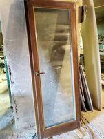 Двери балконные деревянный евробрус 2100х780. Коробка +фурнитура
