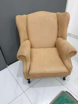 Brown and Cream chairs