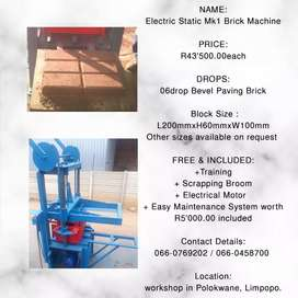 Electric Static Mk1 Brick Machine for BEVEL PAVING BRICK