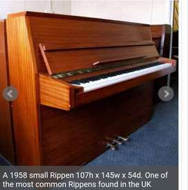 Rippen Piano with steel frame in good condition for sale