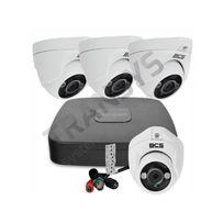 Monitoring HDCVI BCS, zestaw monitoringu 4 kamery FullHD + rejestrator