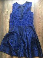 Sukienka na wesele granatowa koronka