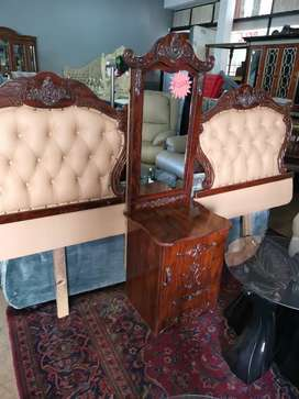 Twin Headboard with mirror cabinet
