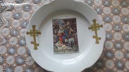 Тарелка старинная раритет с иконой