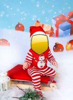 Piżama piżamka sesja święta Boże Narodzenie bałwanek