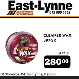 Cleaner Wax ONLY R280!