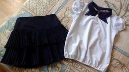 Школьная юбка , блузка 8-9лет