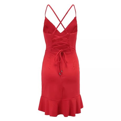 Czerwona sukienka wiązanie na plecach Gniezno - image 2