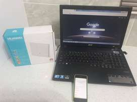 Acer Laptop & I Phone & Wifi Router ( A package deal)