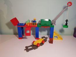 Lego Duplo Klocki Pociąg - Stacja Przeładunkowa Dźwig Zsyp Tory !