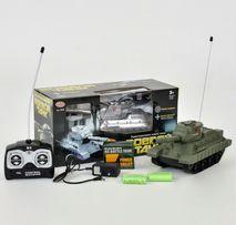 Танк на радиоуправлении р/у танк стреляет на пульте военная техника