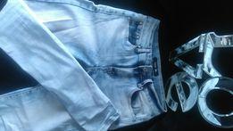 Marmurkowe elastyczne jeansy 36