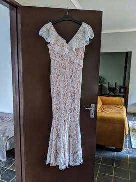 Boho Lace Dress Wedding or Evening Dress - UK 12