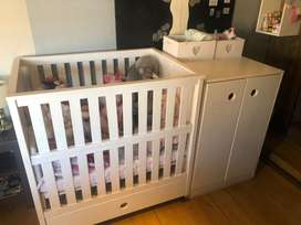 Cot,Cabinet with draws for sale