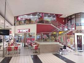 Wimpy in popular shopping centre.