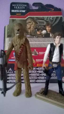 Star Wars Mission Series Han solo and Chewbacca