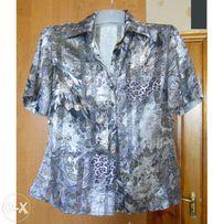 Шелковая блуза XL + подарок на выбор