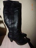 Сапожки - чоботи зимові шкіряні