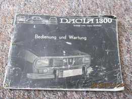 Instrukcja obsługi Dacia 1300 w języku niemieckim - 1974 r.