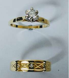 Engagement and wedding ring combo