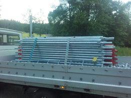 rusztowania elewacyjne modułowe fasadowe typu Plettac 100m2 drewno